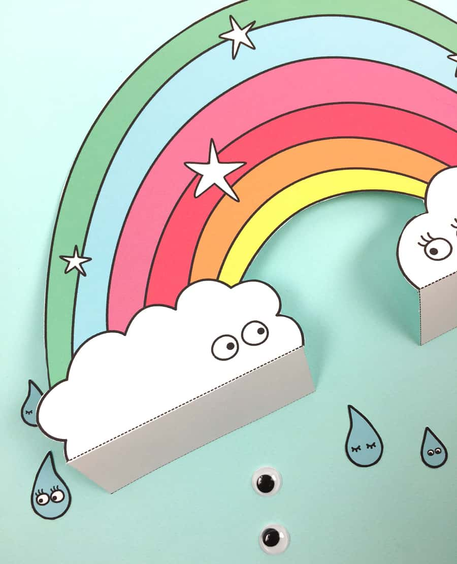 you can stand the rainbow up to make an instant cheerful decoration for the kids room or have kids color in the blank coloring template - Blank Rainbow To Color