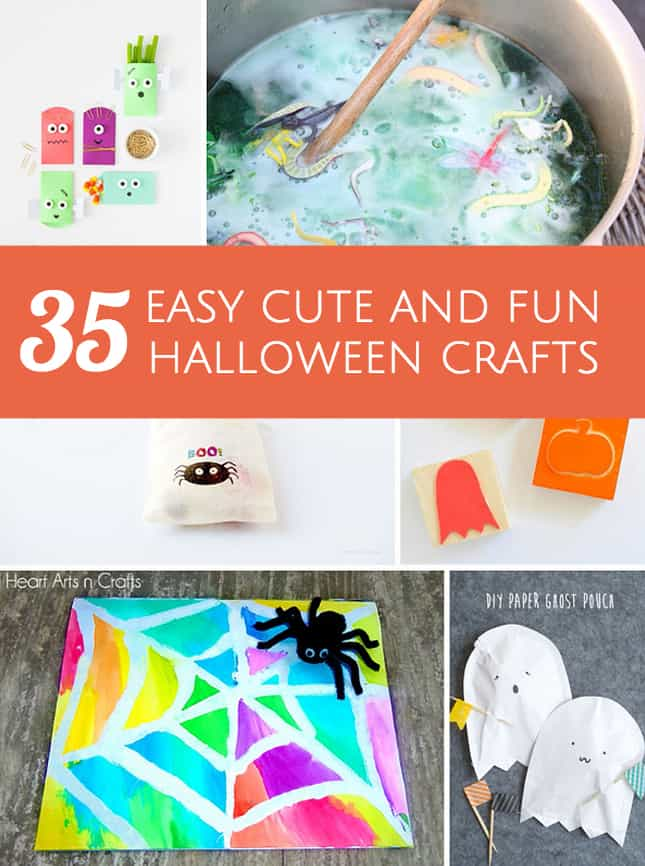 Hello wonderful 35 easy cute and fun halloween crafts for Fun and cute crafts