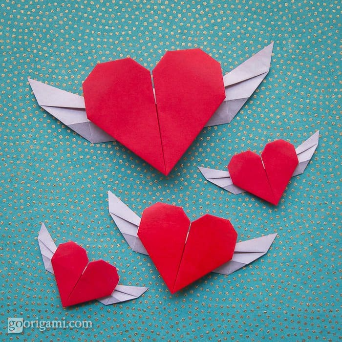 Hello wonderful 15 fantastic valentine origami crafts - How to make paper love hearts ...