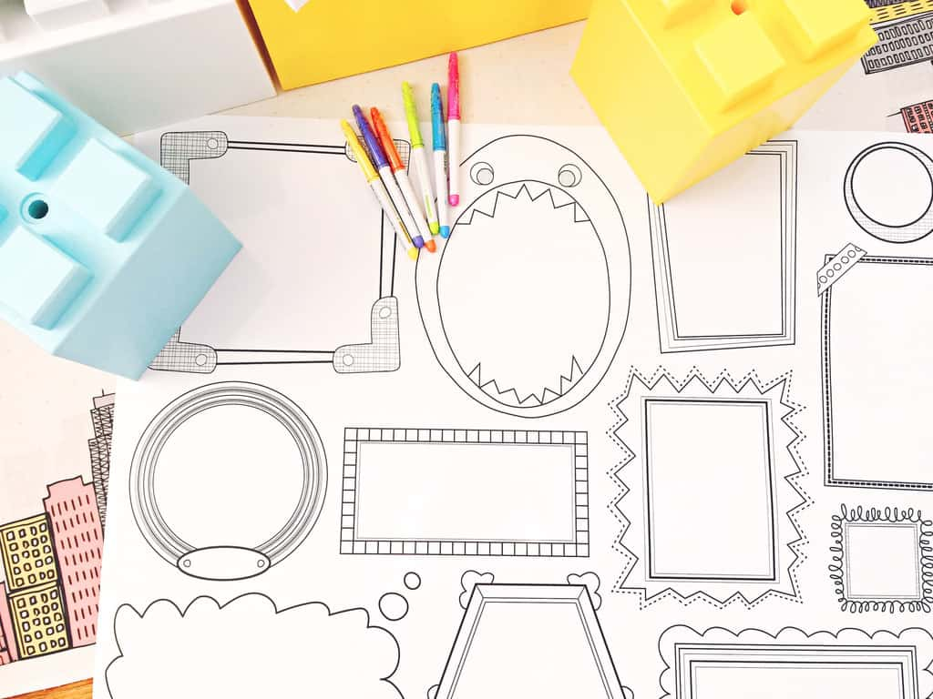 how to draw crafts and frame