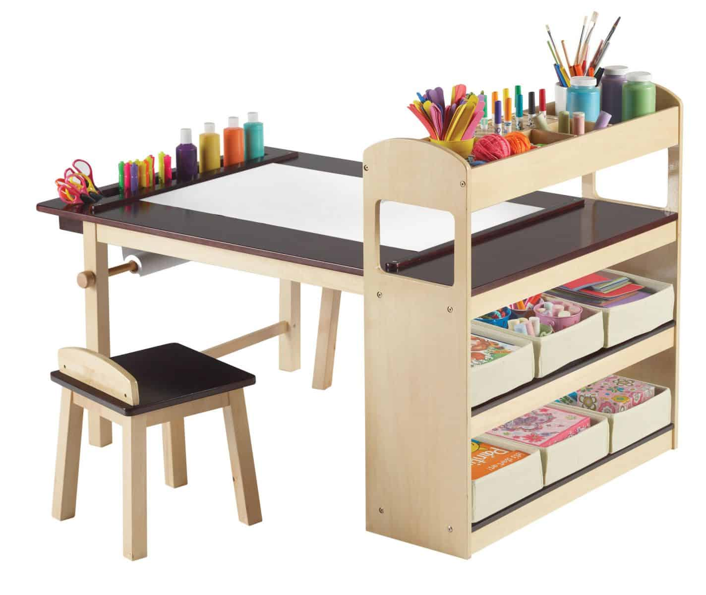 hello wonderful 11 creative arts and craft spaces for kids. Black Bedroom Furniture Sets. Home Design Ideas