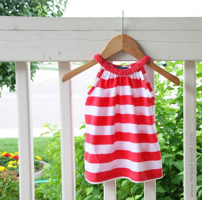 Hello wonderful 5 easy ways to make a girls 39 dress for Easy to make t shirt dress