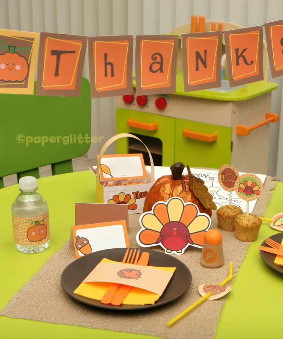 Diy thanksgiving decor kids - 15 Fantastic Thanksgiving Free Printables