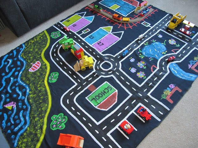 Fabric Roads For Toy Cars : Hello wonderful inventive car inspired diy toys