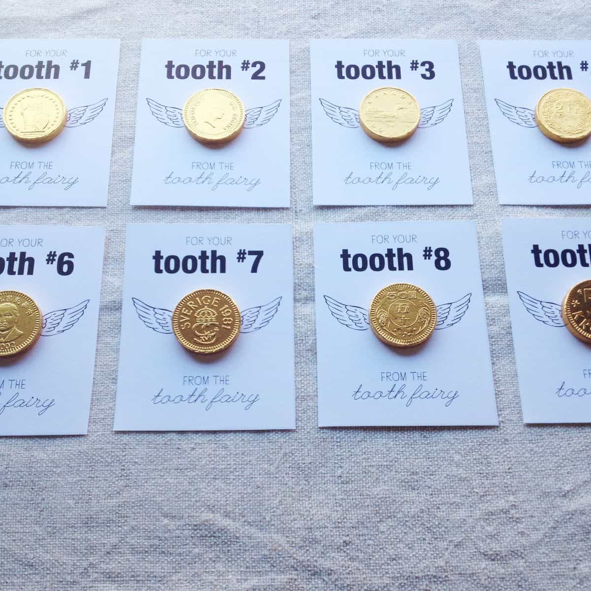 printable coin cards
