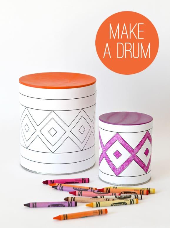 Hello Wonderful Diy Tin Can Colorful Drum