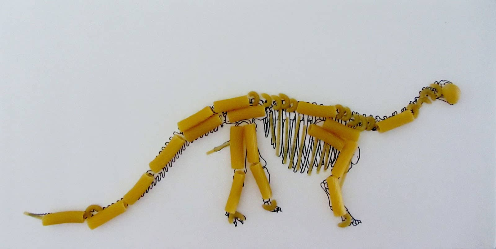 Dinosaur arts and crafts - Pasta Is Also Useful For Creating The Coolest Structures Animals And Even Skeletons Here Are 7 Creative Arts And Crafts Activities Using Pasta To Make And