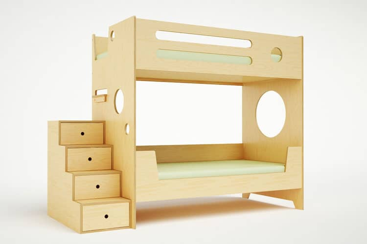 ... Bunk Bed $3400. Compact and sturdy with stairs that double as drawers