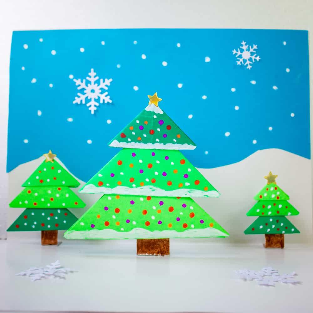 Hello Wonderful Diy Origami Christmas Tree Pop Up Card