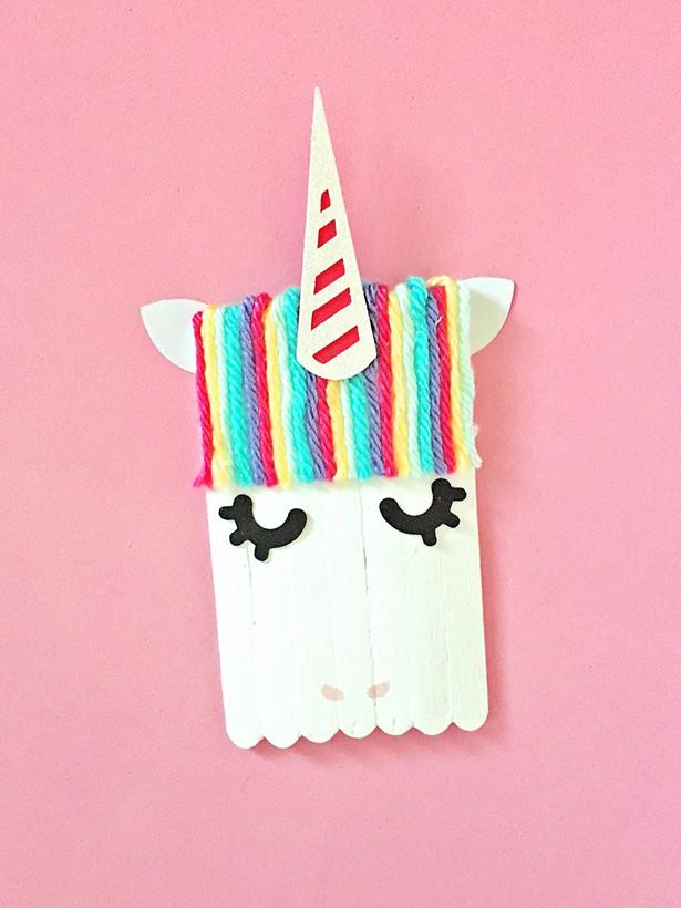 Hello Wonderful Monster And Unicorn Popsicle Stick Craft
