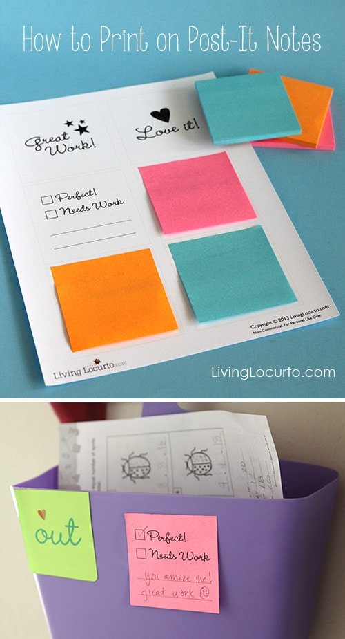 hello wonderful 12 neat back to school free printables With how to print on post it notes