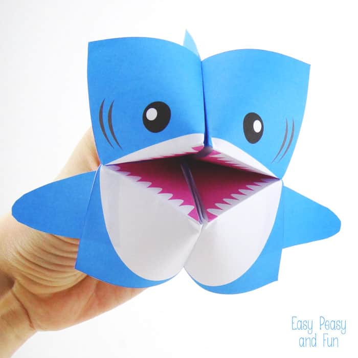 Hello wonderful 12 ferociously cute shark crafts for kids for Easy things to make out of paper for kids