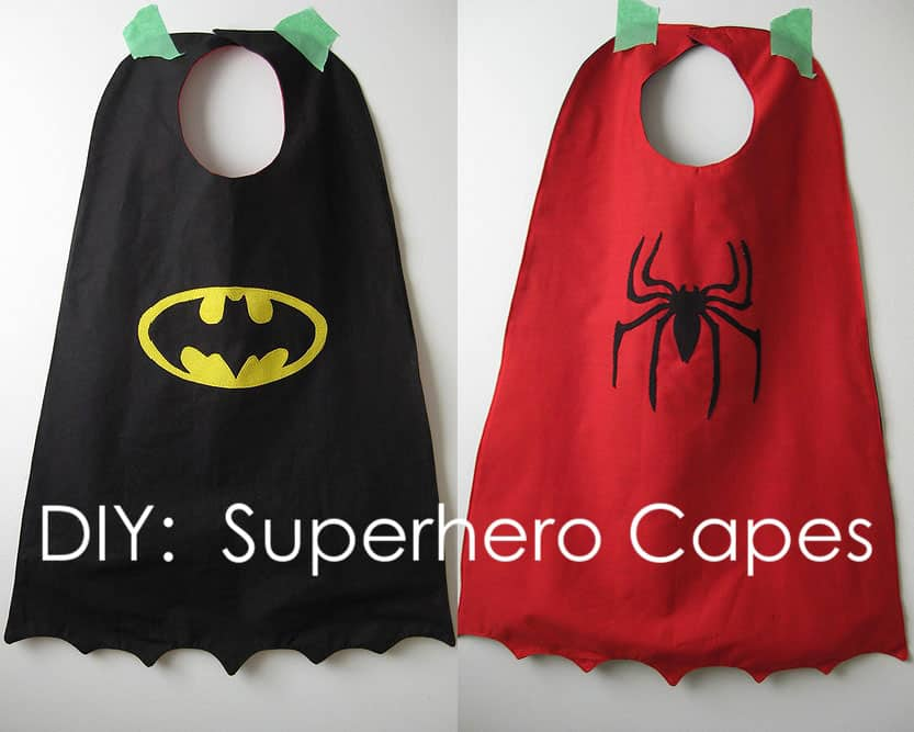 making superhero capes for kids