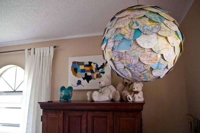 Hello wonderful 10 map inspired kids 39 decor ideas for Weltkarte poster ikea