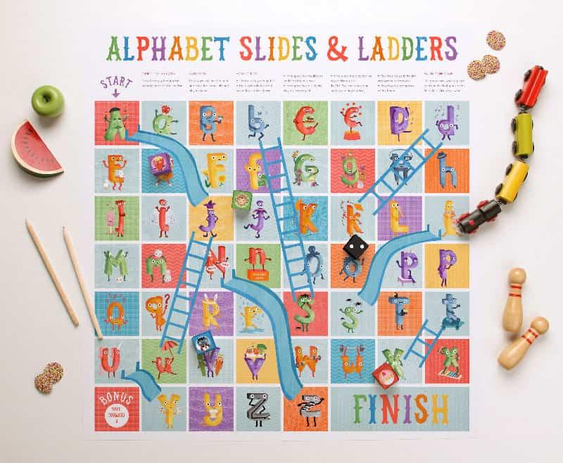 hello, Wonderful - ALPHABET SLIDES AND LADDERS FREE PRINTABLE GAME