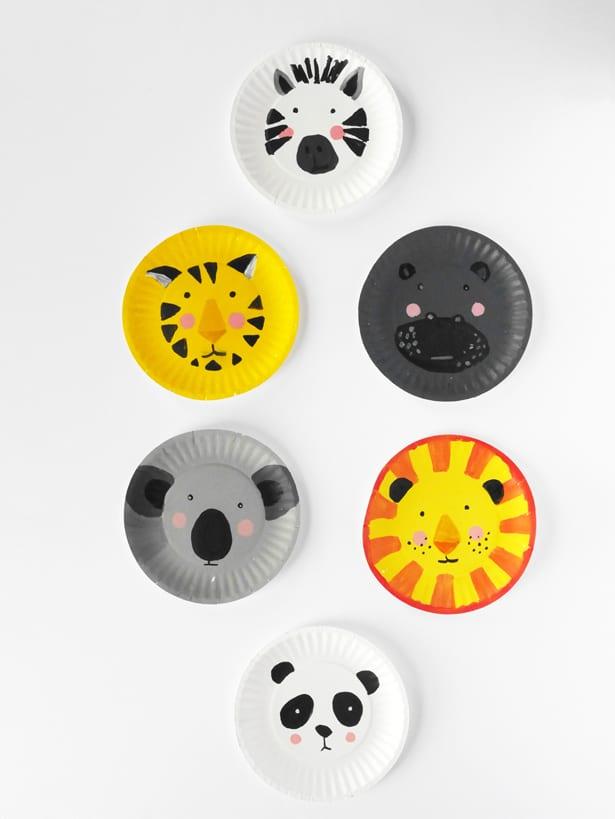 Hello Wonderful Diy Animal Paper Plate Faces