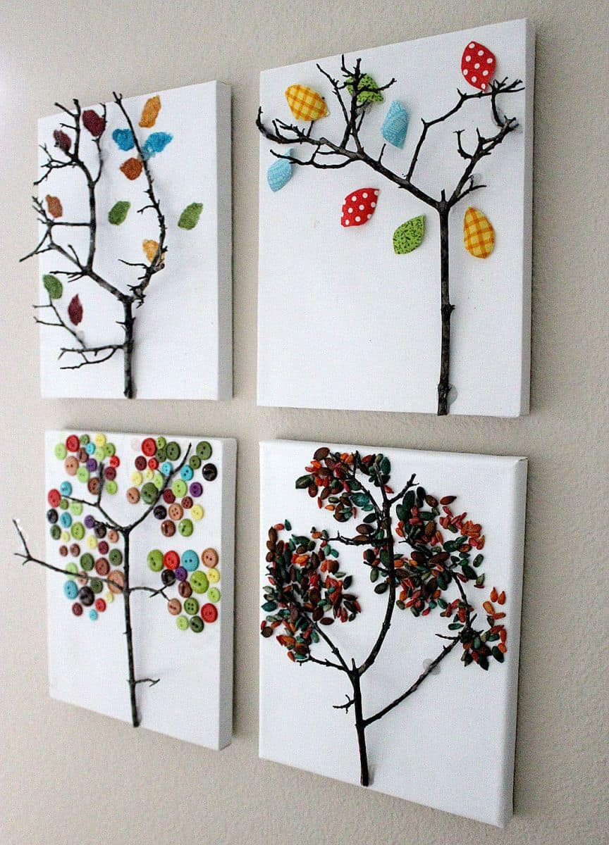 Hello wonderful 10 awesome autumn tree crafts for Art and craft for wall decoration