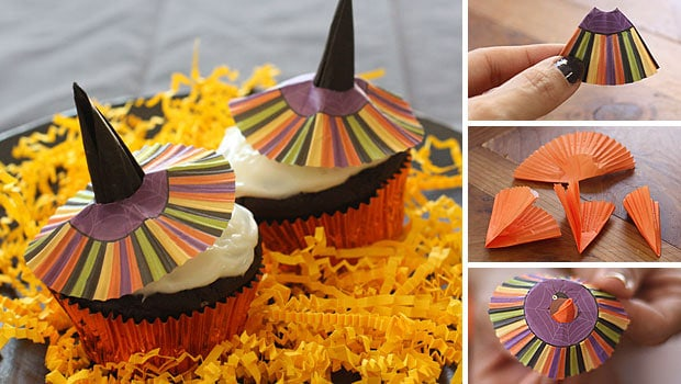 Halloween Cupcakes Witches Hats Witches' Hats Cupcakes Via