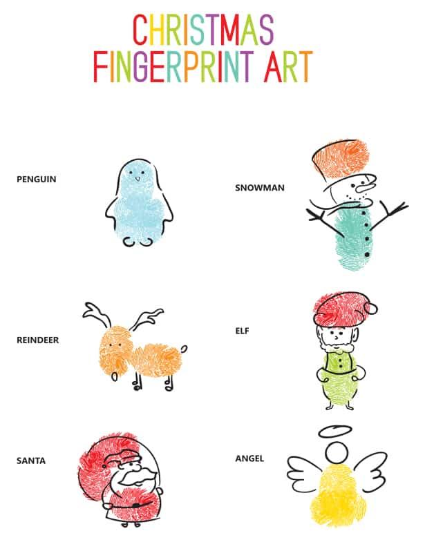Hello Wonderful Christmas Fingerprint Art Easy Winter