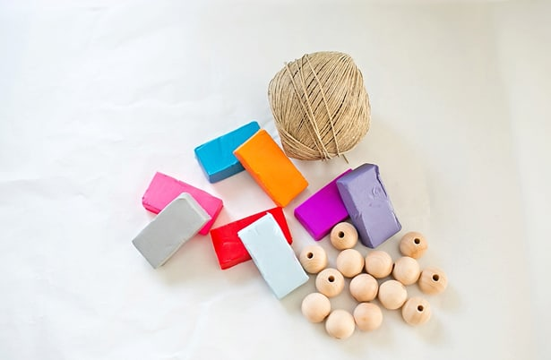 Diy clay wooden beads