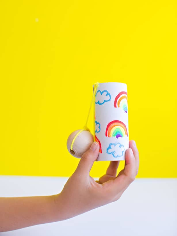 Hello wonderful diy paper tube ball and cup game for kids for Diy paper crafts for kids