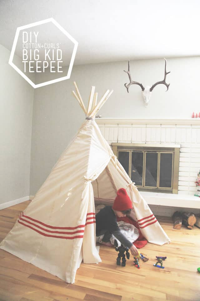 Hello Wonderful Diy Big Kid Teepee