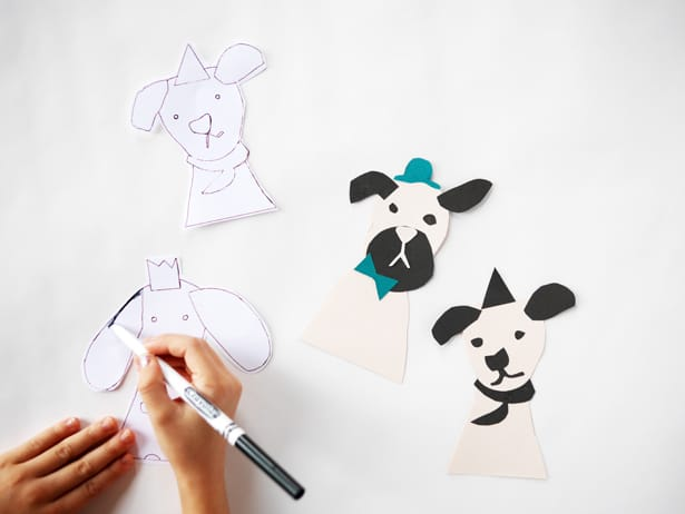 how to make a paper stick puppet