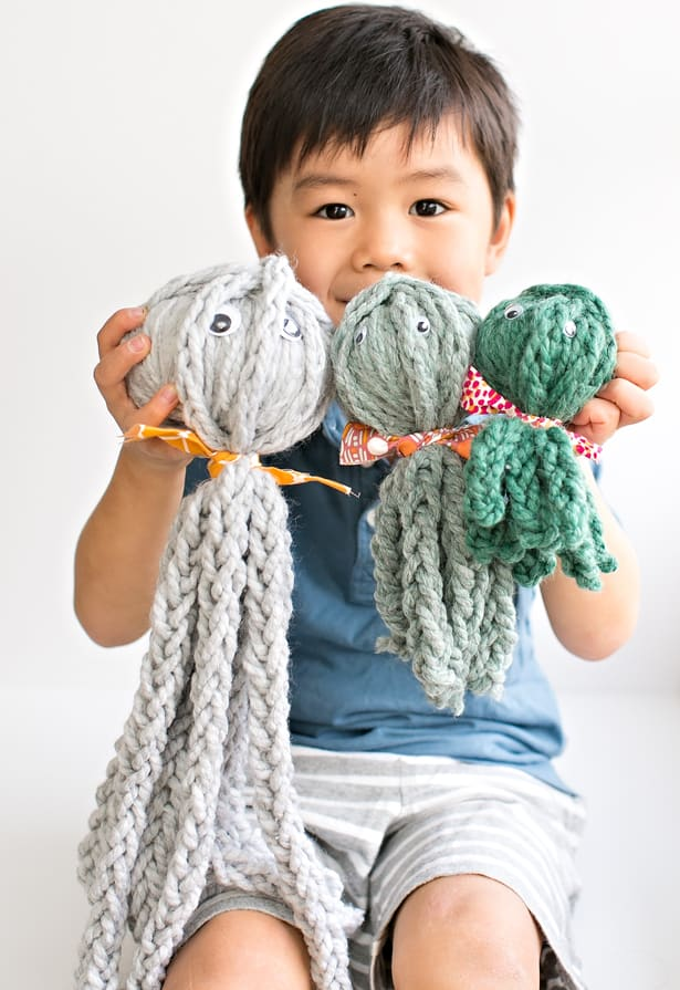 Knitting Tools For Kids : Hello wonderful finger knit octopus review of