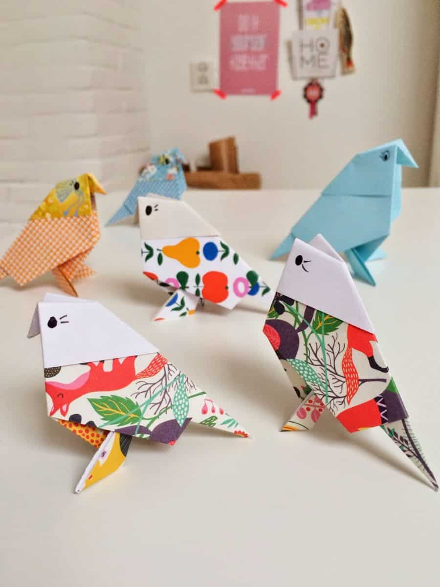 Фото поделок птиц из бумаги