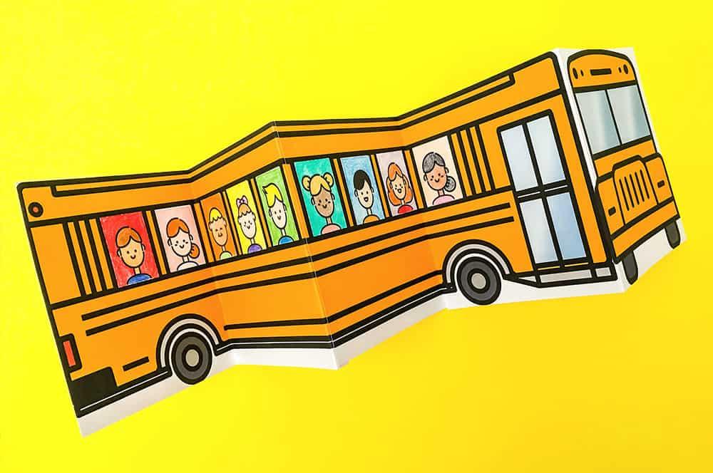 SCHOOL BUS OF FRIENDS FREE PRINTABLE
