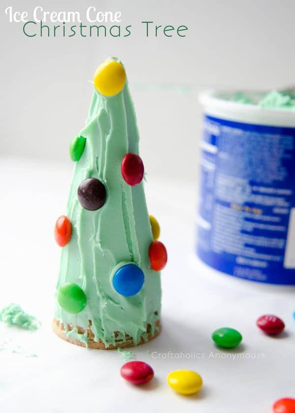Christmas Tree Craft Ice Cream Cone : Hello wonderful ice cream cone christmas tree