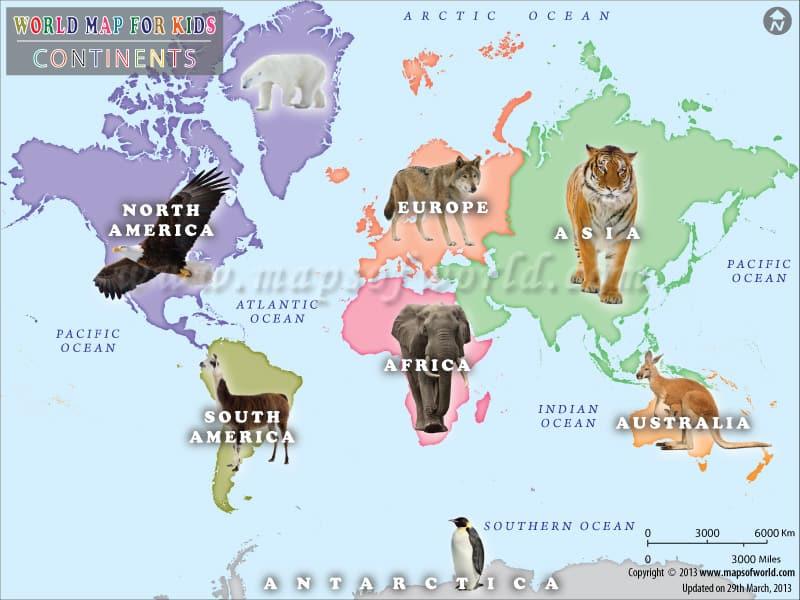 kids world map: