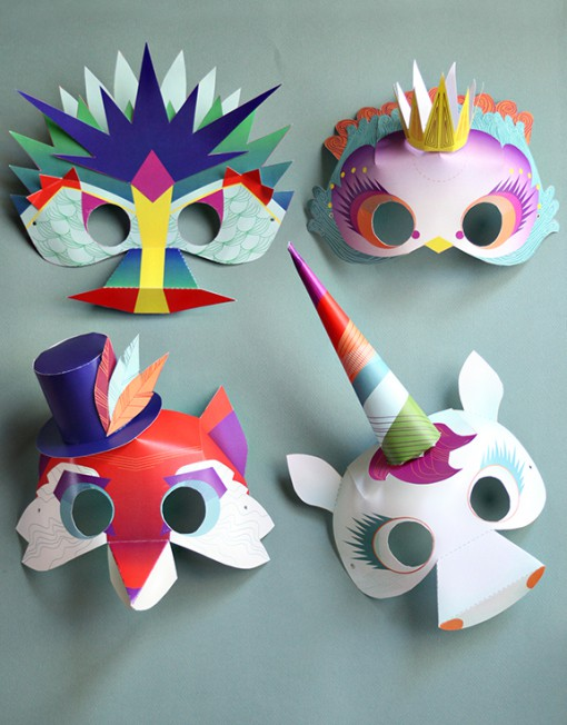 Masks add to the enjoyment of any game of make-believe. The following articles offer instructions for making a variety of paper masks for kids. Some are meant to be worn for playtime, and some are works of art to be displayed.