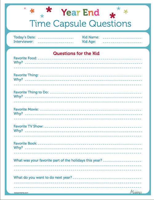Time Capsule Worksheet Worksheet – Time Capsule Worksheet