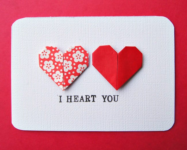 hello Wonderful 15 FANTASTIC VALENTINE ORIGAMI CRAFTS – Valentine Heart Cards
