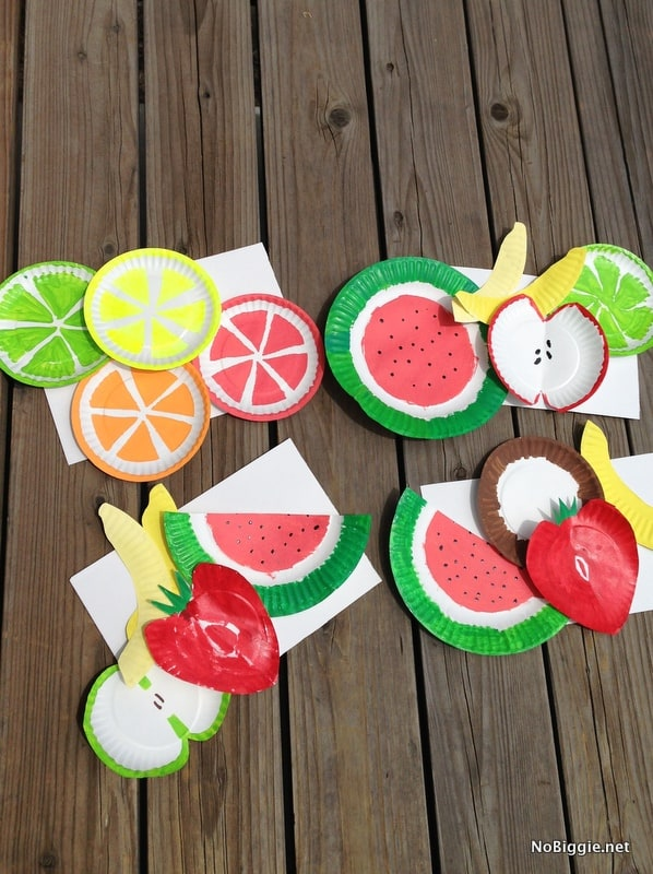 Hello wonderful 12 fun and colorful fruit crafts for Fun kid food crafts