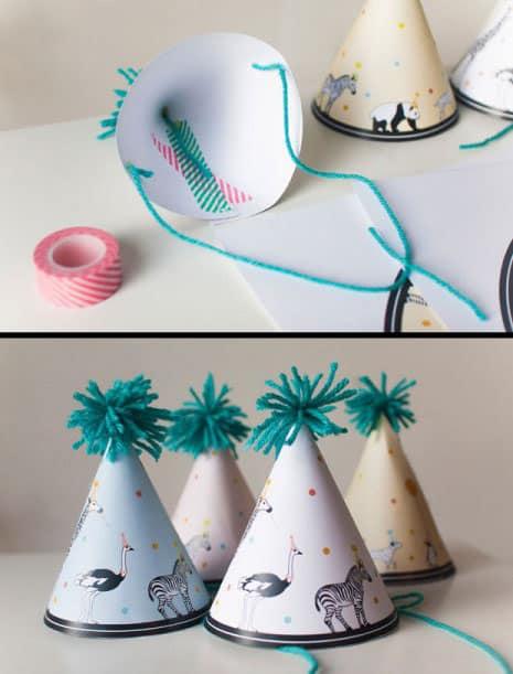 hello, Wonderful8 FESTIVE DIY PARTY HATS