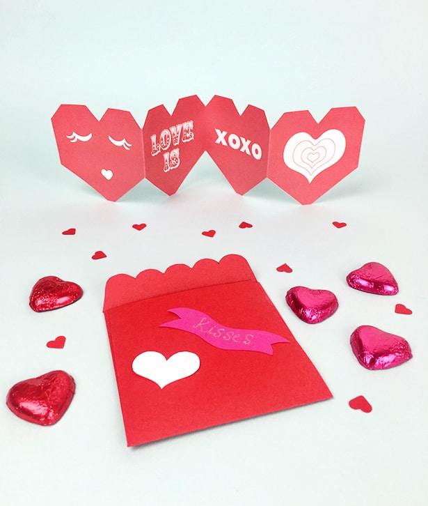 hello Wonderful VALENTINE ACCORDION CARD AND FAVOR FREE PRINTABLE – Valentines Printable Card