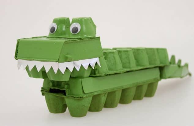 egg carton crocodile via lotta magazine and finally we end with one