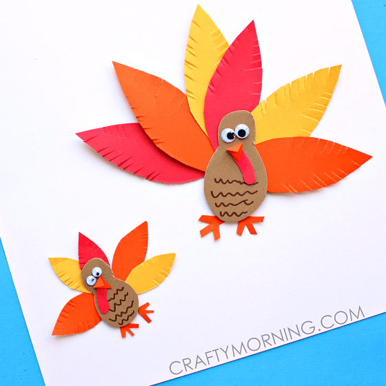 Hello wonderful 10 artsy turkey projects kids can make for Art and craft with paper easy