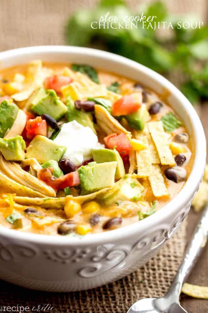 Chicken Fajita Soup (via The Recipe Critic )