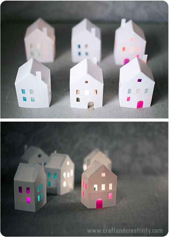 3D Printable Paper House Template,Printable.Printable Coloring