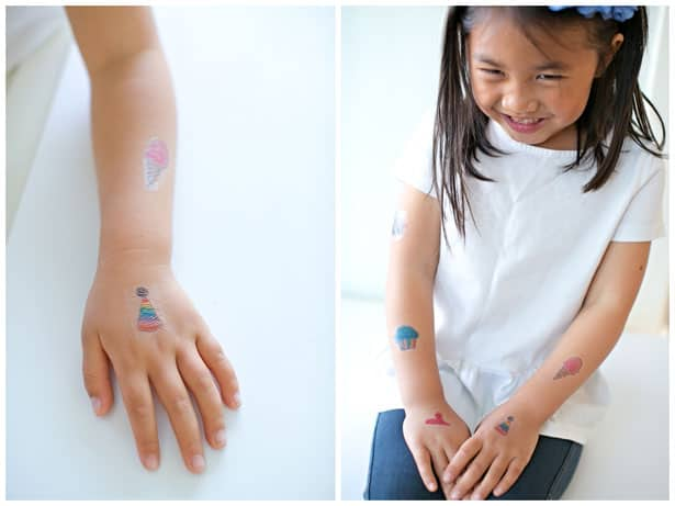 Hello wonderful make temporary tattoos out of kids 39 art for How to get fake tattoos off