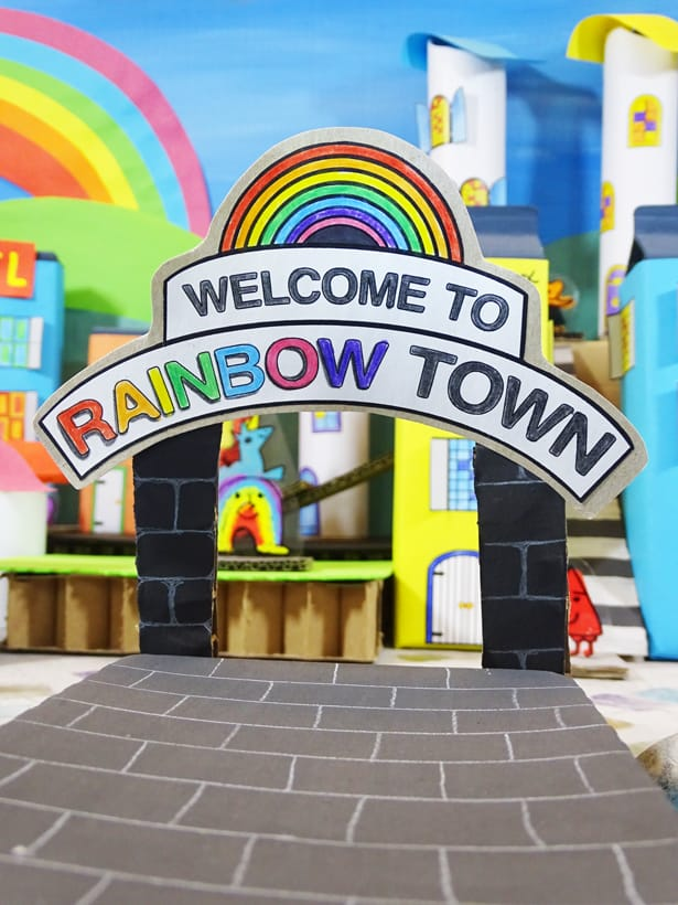 Hello Wonderful How To Create A Recycled Rainbow Town
