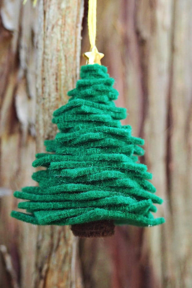 Hello wonderful easy diy felt christmas tree ornament for X mas decorations for kids